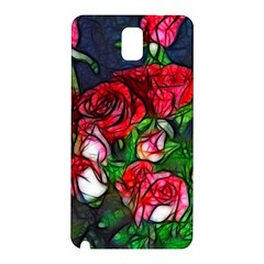 Abstract Red and White Roses Bouquet Samsung Galaxy Note 3 N9005 Hardshell Back Case