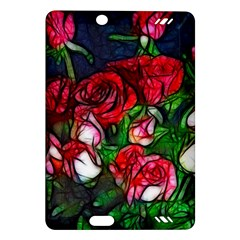 Abstract Red and White Roses Bouquet Kindle Fire HD (2013) Hardshell Case
