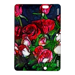 Abstract Red and White Roses Bouquet Kindle Fire HDX 8.9  Hardshell Case