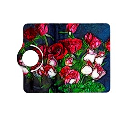 Abstract Red and White Roses Bouquet Kindle Fire HD (2013) Flip 360 Case