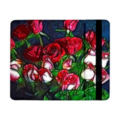 Abstract Red And White Roses Bouquet Samsung Galaxy Tab Pro 8 4  Flip Case