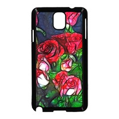 Abstract Red and White Roses Bouquet Samsung Galaxy Note 3 Neo Hardshell Case (Black)