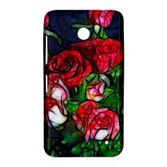 Abstract Red and White Roses Bouquet Nokia Lumia 630 Hardshell Case