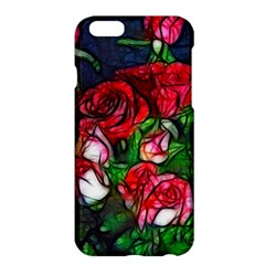 Abstract Red and White Roses Bouquet Apple iPhone 6 Plus Hardshell Case