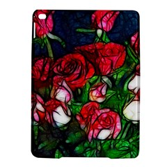 Abstract Red and White Roses Bouquet Apple iPad Air 2 Hardshell Case