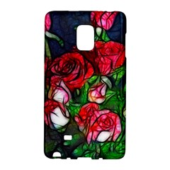 Abstract Red And White Roses Bouquet Samsung Galaxy Note Edge Hardshell Case