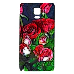 Abstract Red and White Roses Bouquet Samsung Note 4 Hardshell Back Case