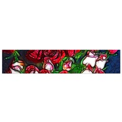 Abstract Red And White Roses Bouquet Flano Scarf (small)