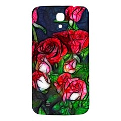 Abstract Red and White Roses Bouquet Samsung Galaxy Mega I9200 Hardshell Back Case