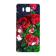 Abstract Red And White Roses Bouquet Samsung Galaxy Alpha Hardshell Back Case