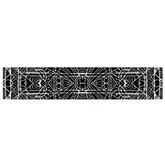 Black and White Tribal Geometric Pattern Print Flano Scarf (Small)