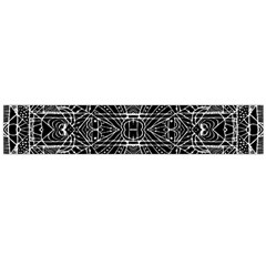 Black and White Tribal Geometric Pattern Print Flano Scarf (Large)