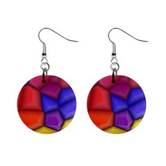 3d Colorful Shapes 1  Button Earrings