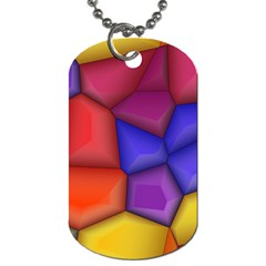 3d Colorful Shapes Dog Tag (two Sides)