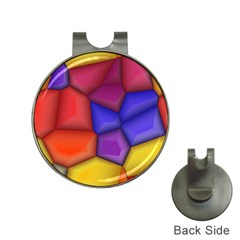3d Colorful Shapes Golf Ball Marker Hat Clip