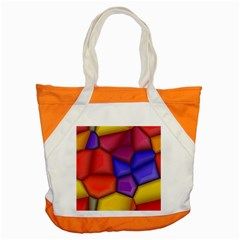 3d colorful shapes Accent Tote Bag