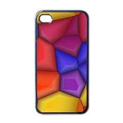3d Colorful Shapes Apple Iphone 4 Case (black)