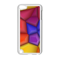 3d Colorful Shapes Apple Ipod Touch 5 Case (white)