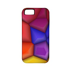 3d Colorful Shapes Apple Iphone 5 Classic Hardshell Case (pc+silicone)