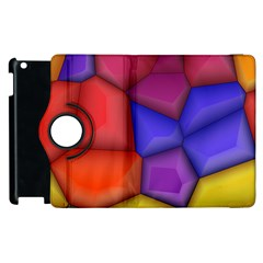 3d Colorful Shapes Apple Ipad 3/4 Flip 360 Case