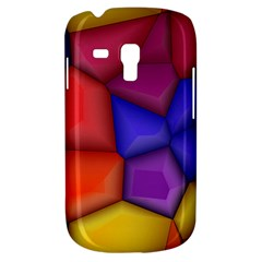 3d Colorful Shapes Samsung Galaxy S3 Mini I8190 Hardshell Case