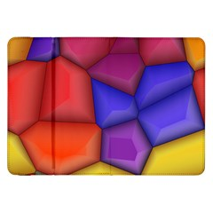 3d Colorful Shapes Samsung Galaxy Tab 8 9  P7300 Flip Case