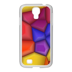 3d Colorful Shapes Samsung Galaxy S4 I9500/ I9505 Case (white)