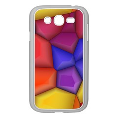 3d Colorful Shapes Samsung Galaxy Grand Duos I9082 Case (white)