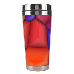 3d colorful shapes Stainless Steel Travel Tumbler