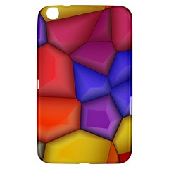 3d Colorful Shapes Samsung Galaxy Tab 3 (8 ) T3100 Hardshell Case