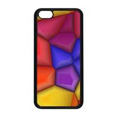 3d colorful shapes Apple iPhone 5C Seamless Case (Black)