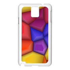 3d Colorful Shapes Samsung Galaxy Note 3 N9005 Case (white)
