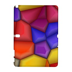 3d colorful shapes Samsung Galaxy Note 10.1 (P600) Hardshell Case