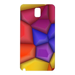 3d colorful shapes Samsung Galaxy Note 3 N9005 Hardshell Back Case