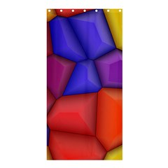 3d colorful shapes Shower Curtain 36  x 72  (Stall)