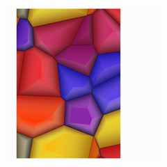 3d Colorful Shapes Small Garden Flag (two Sides)