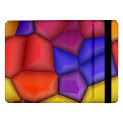 3d Colorful Shapes Samsung Galaxy Tab Pro 12 2  Flip Case