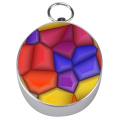3d colorful shapes Silver Compass