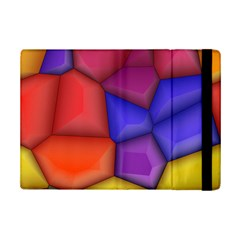 3d colorful shapes Apple iPad Mini 2 Flip Case