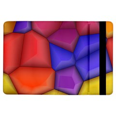 3d colorful shapes Apple iPad Air Flip Case
