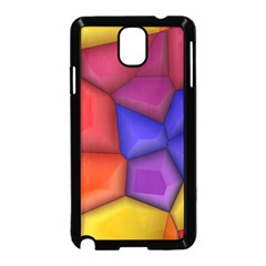3d colorful shapes Samsung Galaxy Note 3 Neo Hardshell Case (Black)