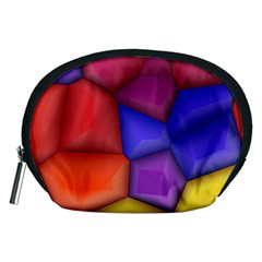 3d colorful shapes Accessory Pouch (Medium)