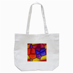 3d colorful shapes Tote Bag (White)