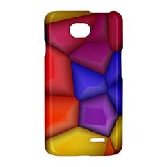 3d colorful shapes LG Optimus L70 Hardshell Case
