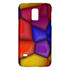 3d colorful shapes Samsung Galaxy S5 Mini Hardshell Case