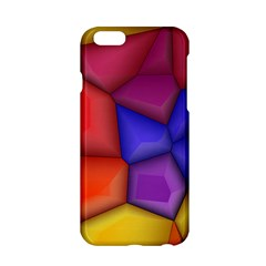 3d colorful shapes Apple iPhone 6 Hardshell Case