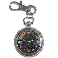 Abstract Sunset Tree Key Chain Watch