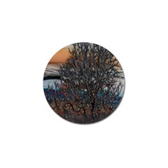 Abstract Sunset Tree Golf Ball Marker 10 Pack
