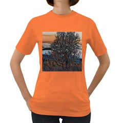 Abstract Sunset Tree Women s T Shirt (colored)
