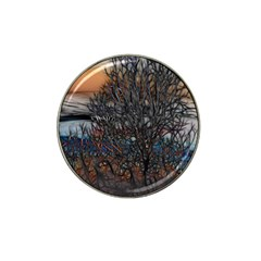 Abstract Sunset Tree Golf Ball Marker (for Hat Clip)
